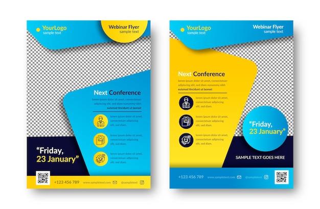 Webinar flyer template set Kostenlosen Vektoren