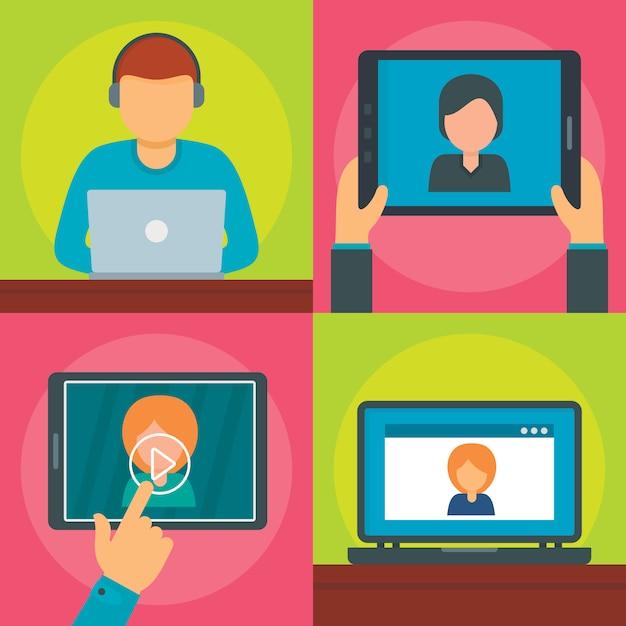 Webinar online Premium Vektoren