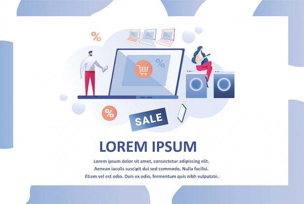 Webseiten-design-vorlage für den elektronikladen Premium Vektoren