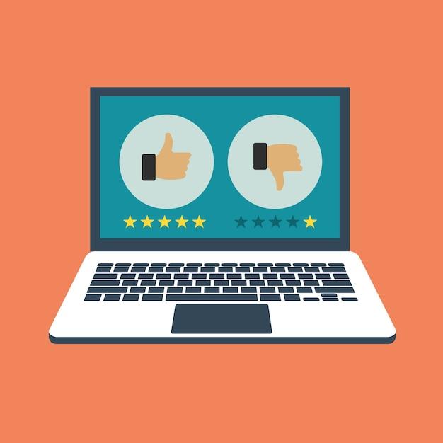 Website-bewertung feedback Kostenlosen Vektoren