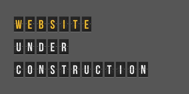 Website im aufbau hintergrund illustration Premium Vektoren