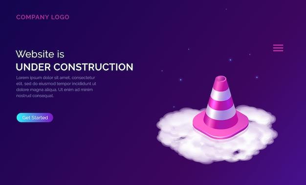 Website im aufbau, wartungsfehler Kostenlosen Vektoren