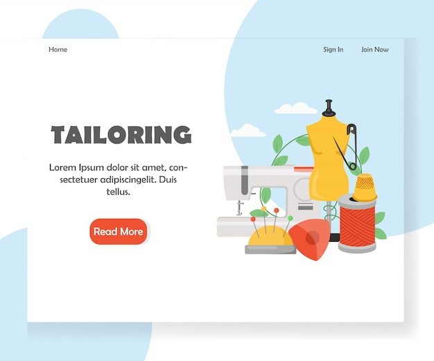 Website-landingpage-vorlage anpassen Premium Vektoren