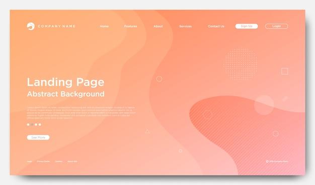 Website-landungs-seiten-hintergrund, moderne abstrakte art Premium Vektoren