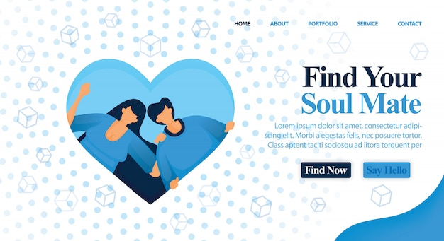 Website matchmaker, freund und planen sie ihre hochzeit. Premium Vektoren