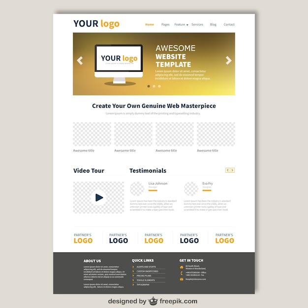 Website template in eleganten Stil | Download der kostenlosen Vektor