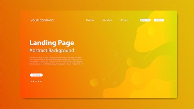 Website-zielseite mit flüssiger formzusammensetzung Premium Vektoren