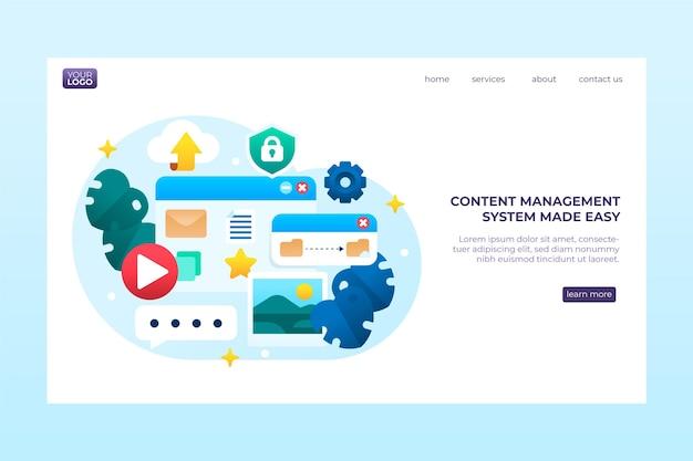 Webvorlage des content management systems Kostenlosen Vektoren