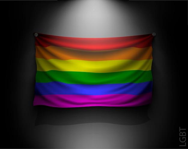 Wehende flagge der lgbt illustration Premium Vektoren