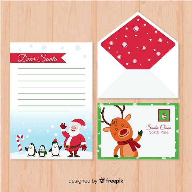 Wehende zeichen weihnachten briefvorlage Kostenlosen Vektoren