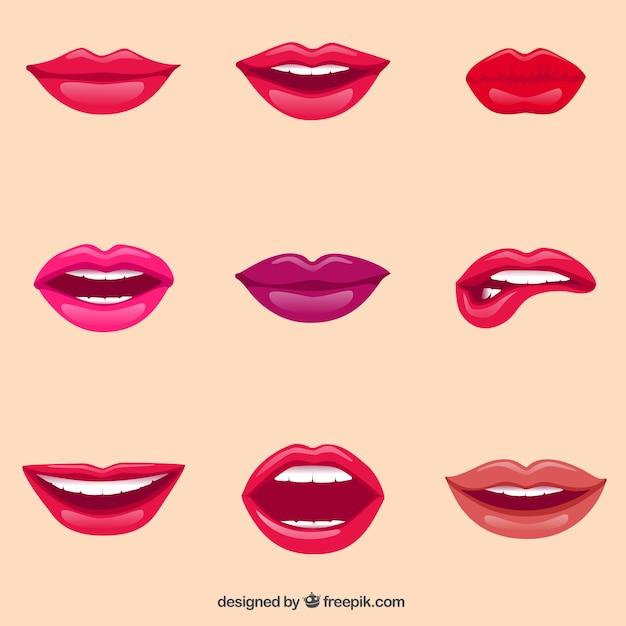 Weibliche lippen Kostenlosen Vektoren