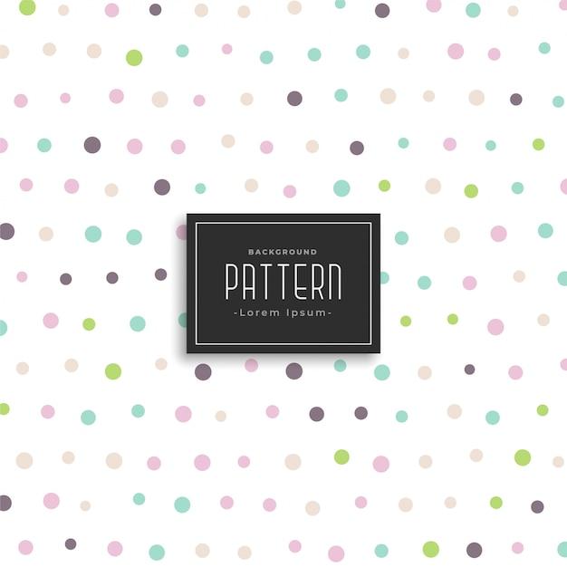 Weiche farbe polka dots hintergrundmuster Kostenlosen Vektoren