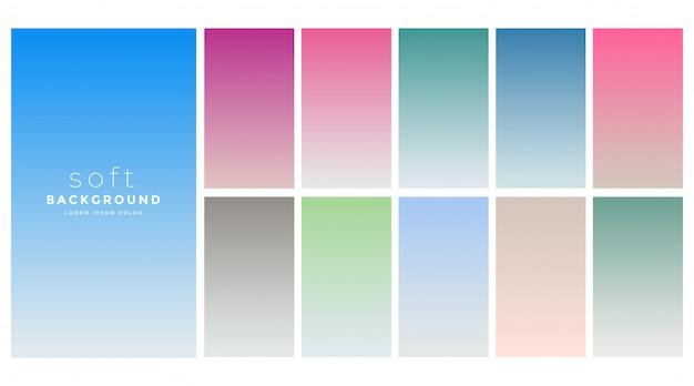 Weiche farbverläufe farbfeldsatz Kostenlosen Vektoren