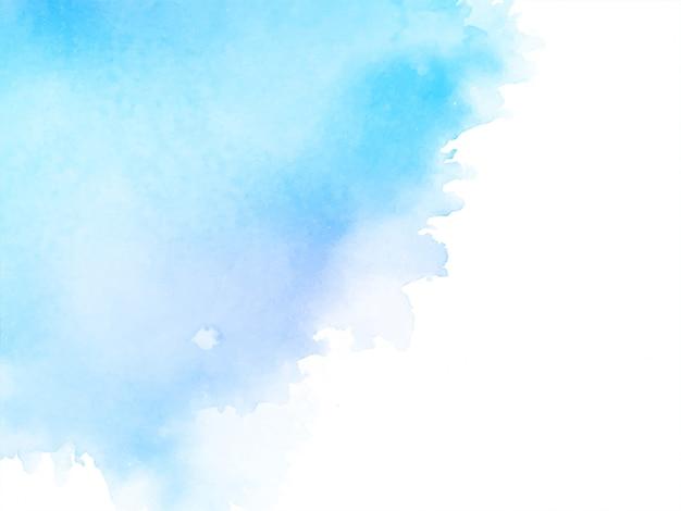 Weicher blauer hintergrund des abstrakten aquarells Kostenlosen Vektoren