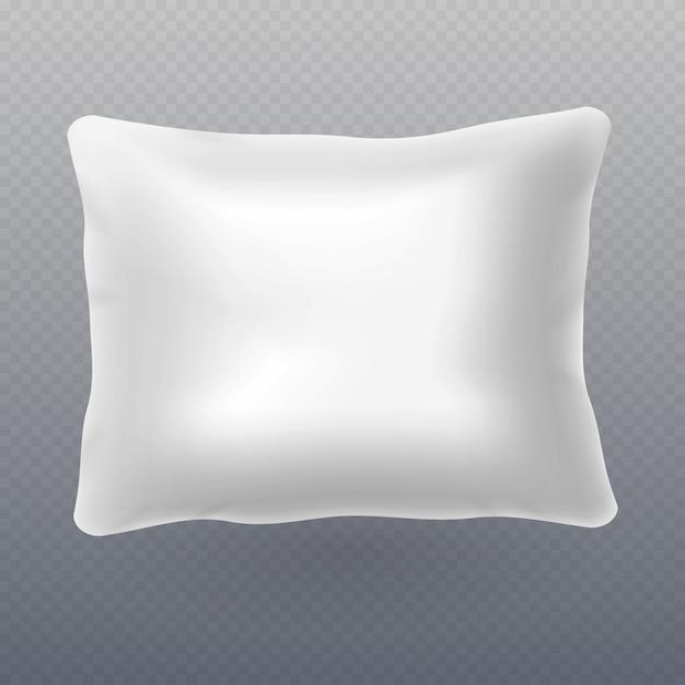 Weiches weißes realistisches kissen Premium Vektoren