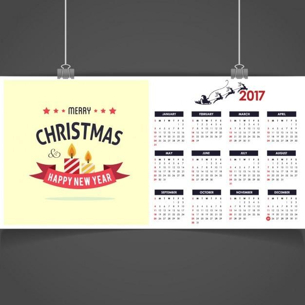 weihnachten 2017 kalender download der kostenlosen vektor. Black Bedroom Furniture Sets. Home Design Ideas