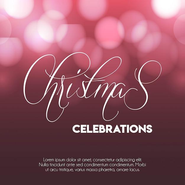 Weihnachten 2019 feiern glühender hintergrund Kostenlosen Vektoren