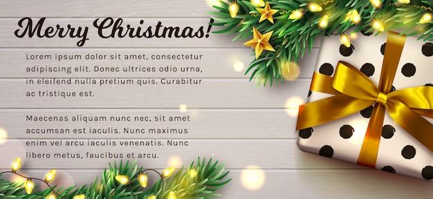 Weihnachten aus holz dekoriert. . Premium Vektoren