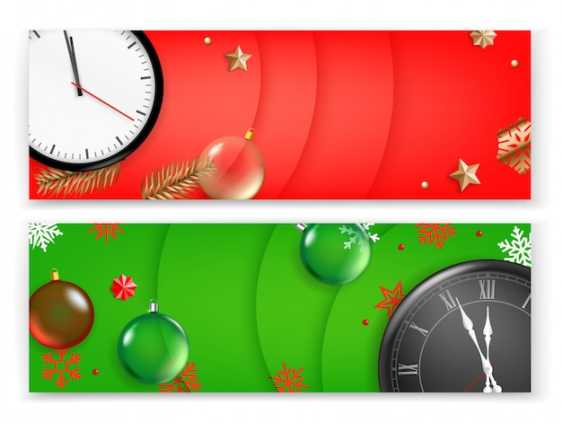 Weihnachten banner vorlage, werbebanner Premium Vektoren