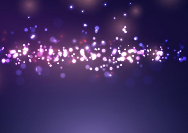 Weihnachten bokeh lights design Kostenlosen Vektoren