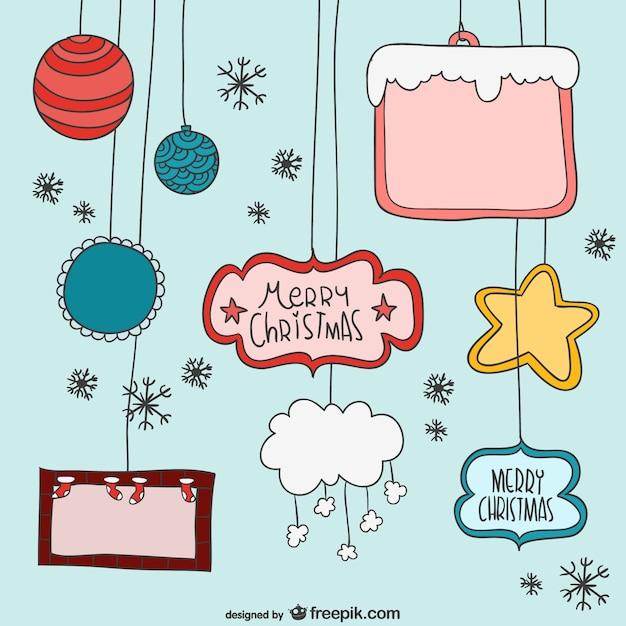 weihnachten cartoon elemente download der kostenlosen vektor. Black Bedroom Furniture Sets. Home Design Ideas