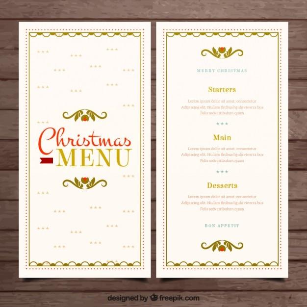 Menü Weihnachten.Weihnachten Elegante Menü Download Der Premium Vektor