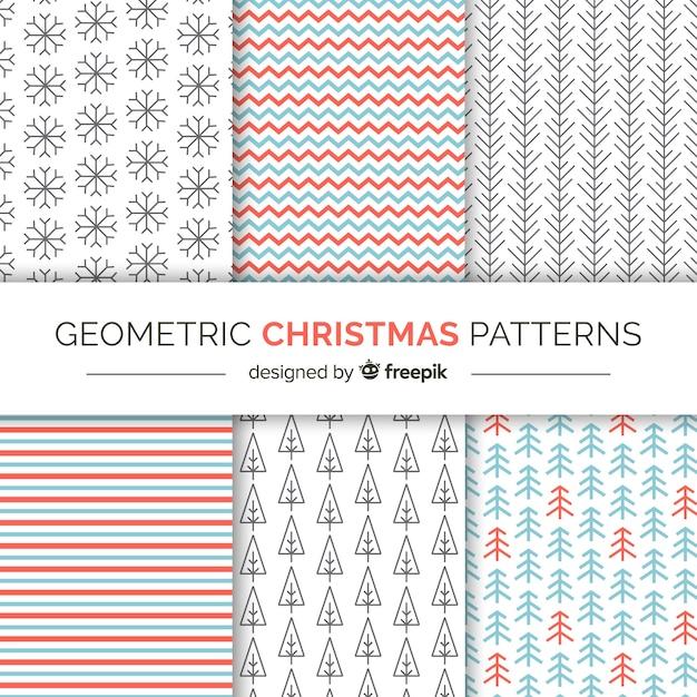 Weihnachten geometrische Muster Kostenlose Vektoren