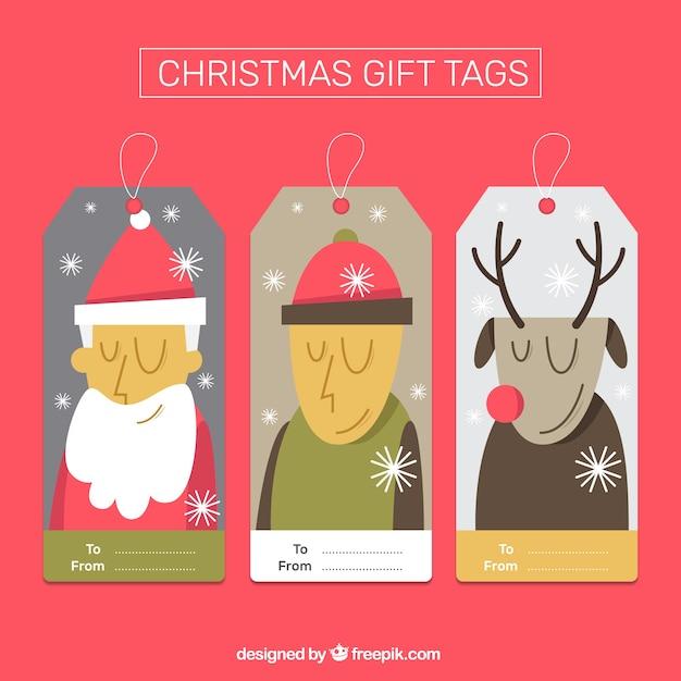 Bilder Kostenlos Downloaden Weihnachten.Weihnachten Geschenkanhänger Set Download Der Kostenlosen Vektor
