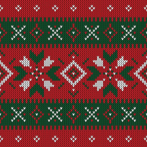 Weihnachten gestricktes muster. geometrisches nahtloses muster des winters. Premium Vektoren