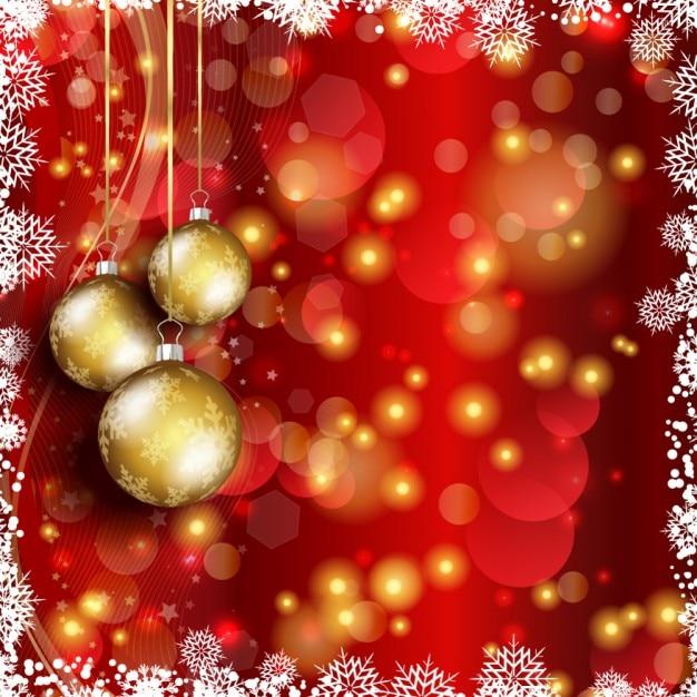 Weihnachten hintergrund mit goldenen kugeln download der for Weihnachten hintergrund kostenlos