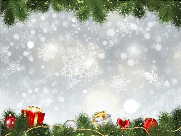 Weihnachten hintergrund Premium Vektoren