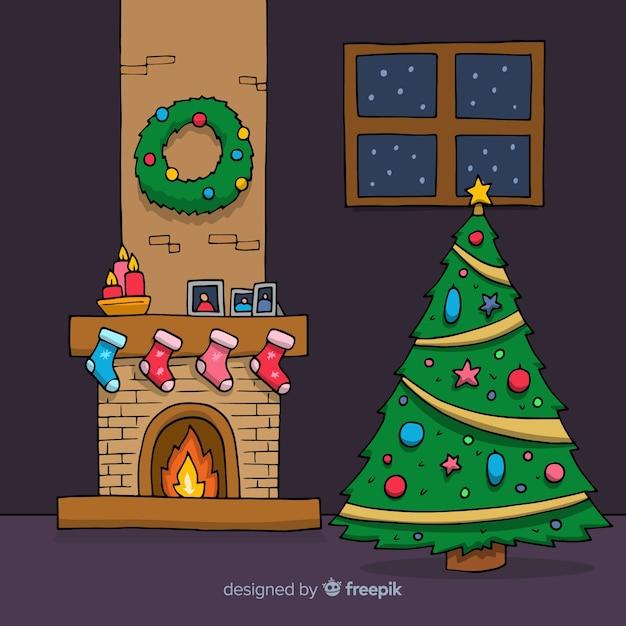 Weihnachten hintergrund Kostenlosen Vektoren