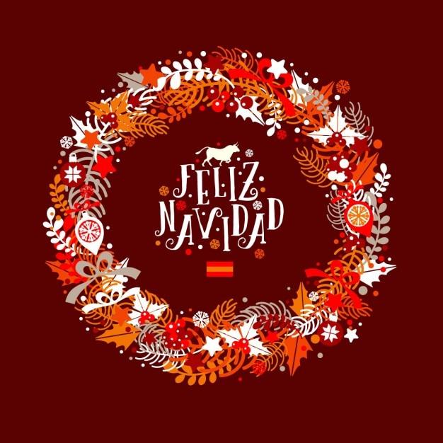 Spanien Weihnachten weihnachten kranz in den farben der flagge von spanien mit einer