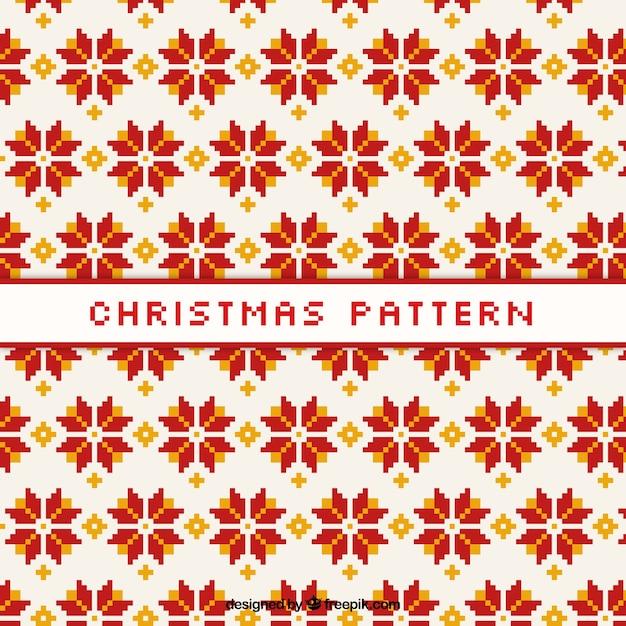 weihnachten muster mit geometrischen blumen download der. Black Bedroom Furniture Sets. Home Design Ideas