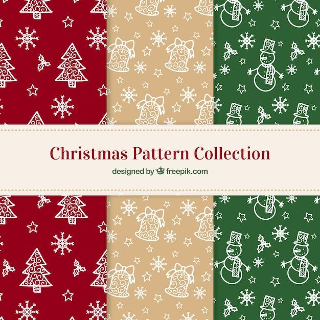 weihnachten muster mit mistel und schneeflocken download der kostenlosen vektor. Black Bedroom Furniture Sets. Home Design Ideas