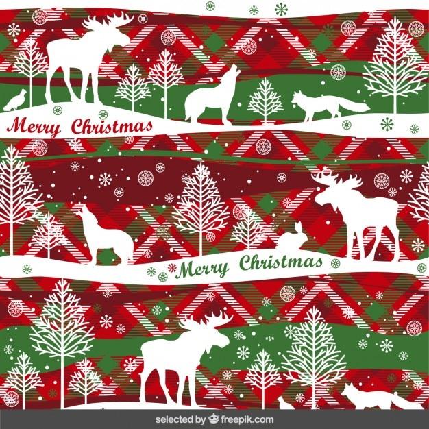 weihnachten muster mit tieren download der kostenlosen