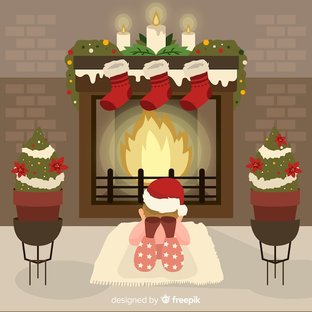 Weihnachten nach hause Kostenlosen Vektoren