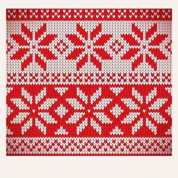 Weihnachten nordic nahtlose stricken illustration Kostenlosen Vektoren