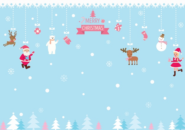 Weihnachten-ornamente-hintergrund Premium Vektoren