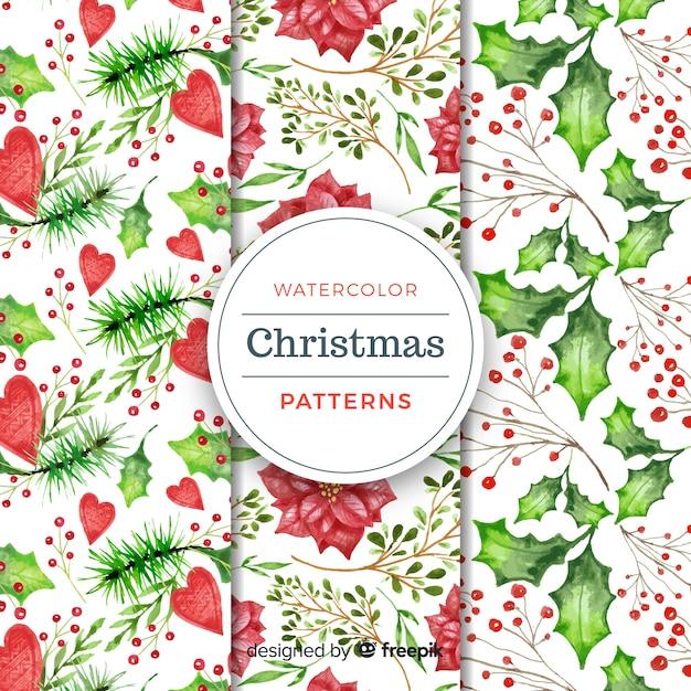 Weihnachten pflanzen aquarell muster download der - Aquarell weihnachten ...