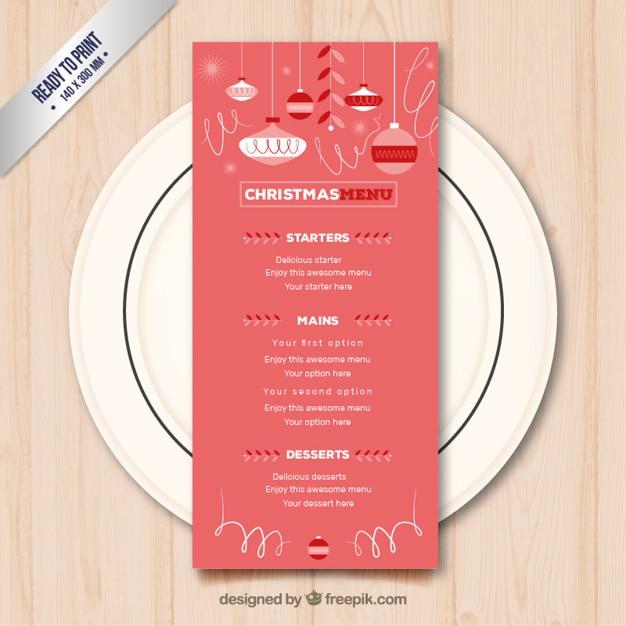 weihnachten restaurant men download der kostenlosen vektor. Black Bedroom Furniture Sets. Home Design Ideas