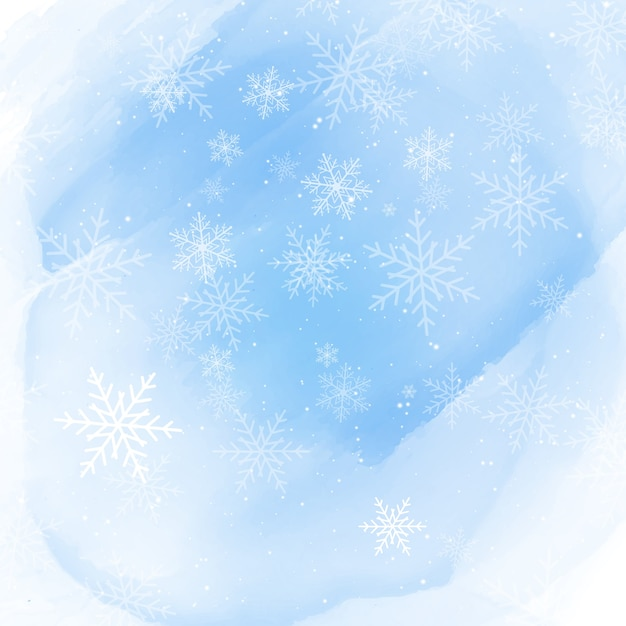 weihnachten schneeflocken auf einem aquarell hintergrund. Black Bedroom Furniture Sets. Home Design Ideas