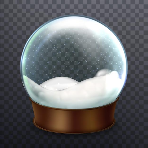 Weihnachten snowglobe blank holiday souvenir Premium Vektoren