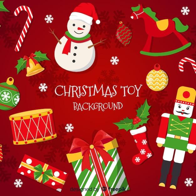Weihnachten spielt hintergrund Kostenlosen Vektoren