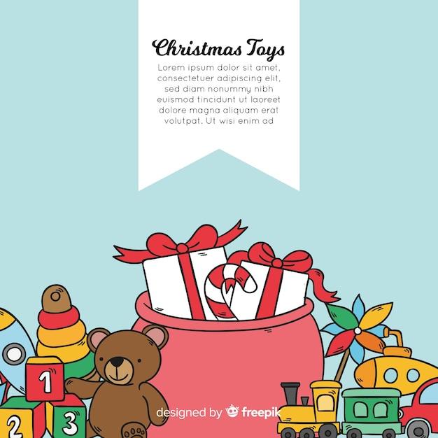 Weihnachten spielzeug hintergrund Kostenlosen Vektoren