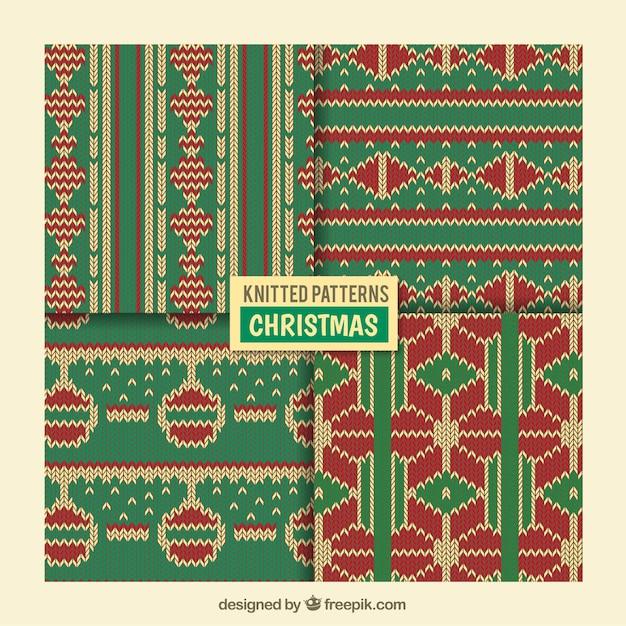 Weihnachten Strickmuster | Download der kostenlosen Vektor