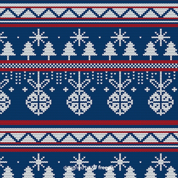 Weihnachten strickmuster Kostenlosen Vektoren