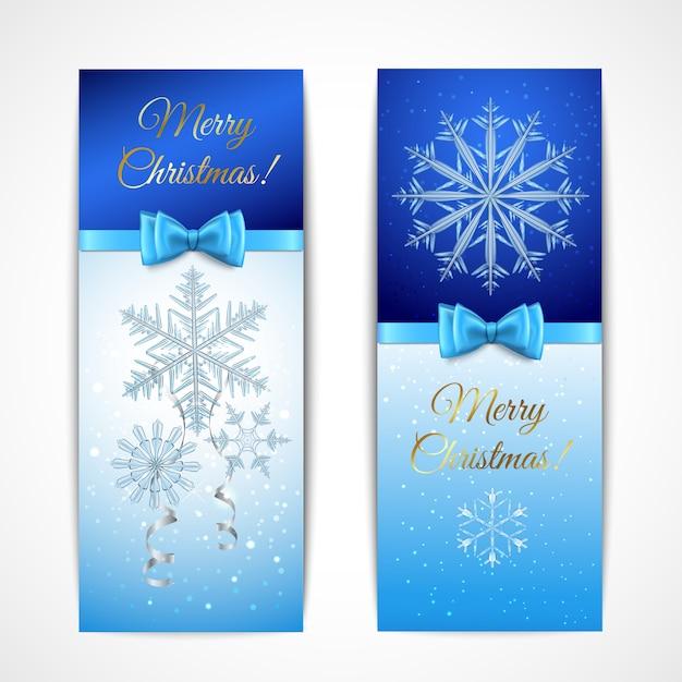 Weihnachten vertikale banner Kostenlosen Vektoren