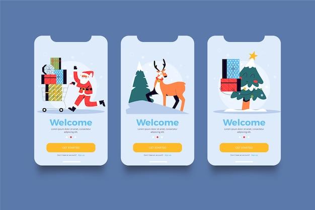 Weihnachts app Premium Vektoren