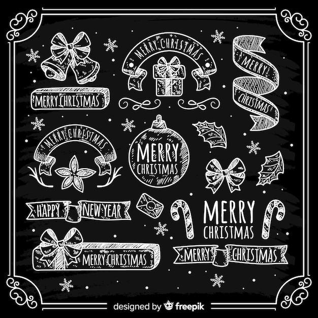 Weihnachts-etiketten-sammlung Kostenlosen Vektoren